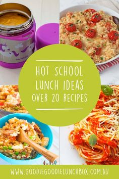 Warm those little bellies on the cooler month with this round up of over 20 recipes in this post dedicated to Hot School Lunch Ideas. From soup to rice, these recipes are perfect for insulated food jars and therefore perfect for school lunches. Healthy Snacks For Kids, Healthy Foods To Eat, Healthy Recipes, Healthy Lunches, Detox Recipes, Kids Lunch For School, School Lunches, Kid Lunches, Lunch Box Recipes
