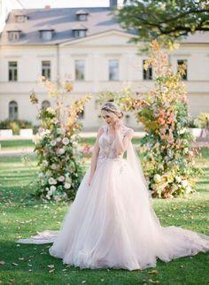 Blush tulle wedding dress by White Day #wedding #love #weddingphotography#bridesmaiddress #weddinginvitations#weddingdress #weddinggown #weddinginspo #bride #weddedbliss #weddingstyle #weddingfun #weddingceremony #marryingmybestfriend #weddingday