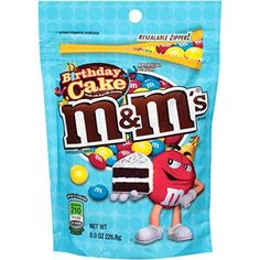M&M's Birthday Cake Chocolate Candies - Oreos, Gourmet Recipes, Snack Recipes, Snacks, Canned Blueberries, Birthday Cake Flavors, Candy Drinks, Scones Ingredients, Cake Games