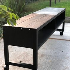 Outdoor Kitchen Bars, Patio Kitchen, Outdoor Kitchen Design, Outdoor Rooms, Outdoor Living, Outdoor Gardens, Webber Grill Table, Kamado Bbq, Outside Fireplace