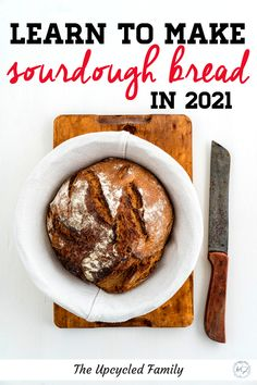 Love sourdough? Make 2021 the year to learn to make your own sourdough! #sourdough #bread #recipes #howtomake Kid Recipes, Bread Recipes, Real Food Recipes, Baking Recipes, Yummy Food, Paleo Kids, Healthy Snacks For Kids, Healthy Foods, Diy Food