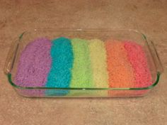 colored rice for kids to play with, but you could also use this for craft projects for kids too.....