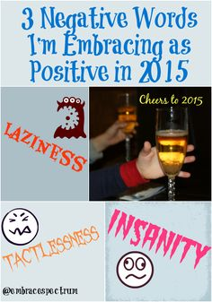 3 Negative Words I'm Embracing as Positive in 2015 www.embracingthespectrum.com/3-negative-words-im-embracing-as-positive-in-2015/