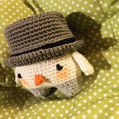 snowman SIMON made by Séverine H. / crochet pattern by lalylala