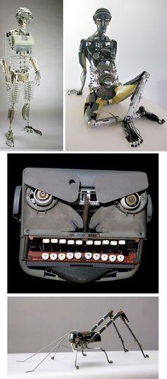 Artist Jeremy Mayer turns broken typewriters into cool sculptures