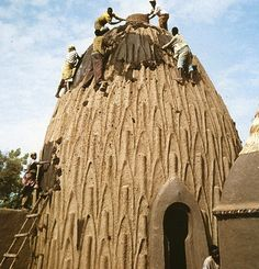 musgum clay house, Cameroon