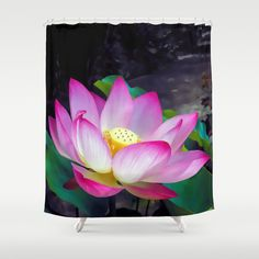 Lotus Blossom Shower Curtain by Makanahele - $68.00