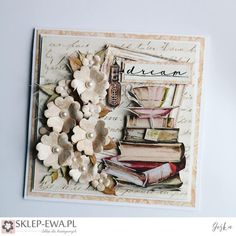 Blog sklep-ewa.pl Coffee Cards, Dear Diary, Paper Cards, Junk Journal, Diy Wall, Homemade Cards, Cardmaking, Diy And Crafts, Valentines