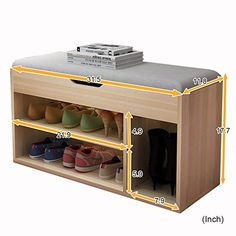 47 Shoes Cabinet Design Ideas for Kids # Wood Shoe Rack, Shoe Rack Bench, Bench With Shoe Storage, Types Of Furniture, Furniture Projects, Wood Furniture, Furniture Design, Shoe Cabinet Design, Diy Locker
