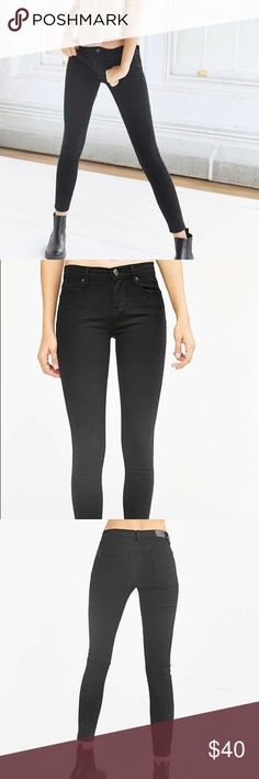 BDG Cigarette Mid-Rise Skinny Jean - Black BDG by Urban Outfitters mid-rise jeans in black overdye (very dark black) Cigarette fit. No longer available on the UO website. These have only been worn a once so they are in perfect condition! Price is firm! BDG Jeans Skinny