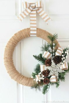 Neutral Burlap Wreath