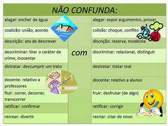 Português na tela: #dicasdasemana: ImPoRtAnTe NÃo CoNfUnDiR