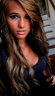 chocolate caramel hair. loving this color!!! Beautiful!!