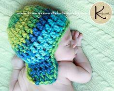 Baby Boy Aviator Hat Crochet Newborn Photo by OopsIKnitItAgain
