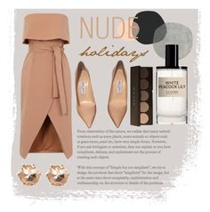 """Nude holiday"" by kate0810 ❤ liked on Polyvore featuring River Island, D.S. & DURGA and Jimmy Choo"