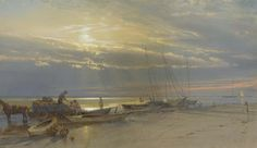 William Trost Richards (1833-1905), On the Inlet, Atlantic City, New Jersey.