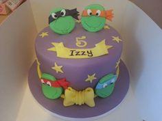 Teenage Mutant Ninja Turles cake for Lukas? But instead of periwinkle, green background fondant. Ninja Birthday Parties, Ninja Party, Ninja Turtle Birthday, Ninja Turtle Party, Ninja Turtles, Birthday Ideas, Birthday Cake, Mutant Ninja, Teenage Mutant