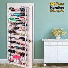 Organizer storage shoes 36 shoe rack pair shelf door wardrobe Source by Sneaker Storage, Shoe Organiser, Shoe Cupboard, Shoe Cabinet, Shoe Storage Solutions, Door Rack, Small Room Bedroom, Shoe Box, Household Items