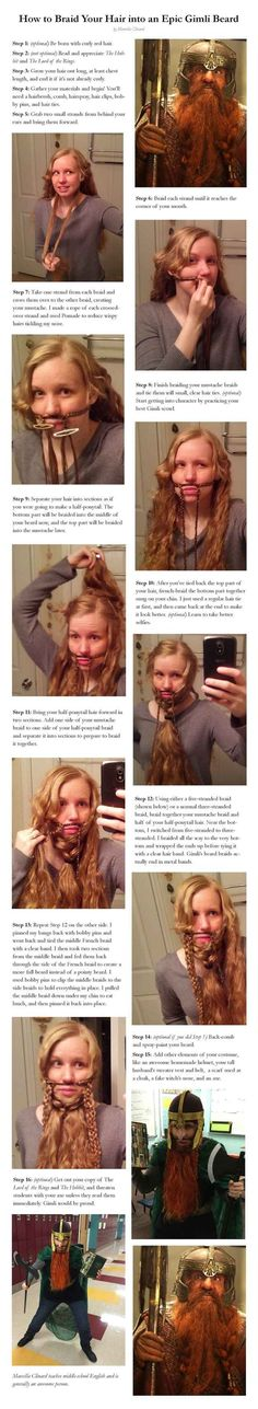 Haha! This Is How To Braid Your Hair Into A Gimli Beard
