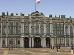 The Hermitage in St. Petersbourg, Russia. A former palace . The show rooms are incredibly beautiful, the collections vast and impressive. A must visit.