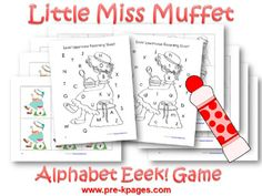 Little Miss Et Literacy And Math Rhyming Preschoolpreschool Homeworknursery Rhymes Preschoolrhyming Activitiespreschool