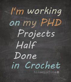 How many crochet projects can you start at once? ❥ 4U // hf