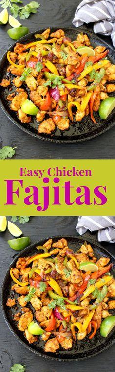 Easy Chicken Fajitas ( 15 minutes + 1 pan) | CiaoFlorentina.com @CiaoFlorentina