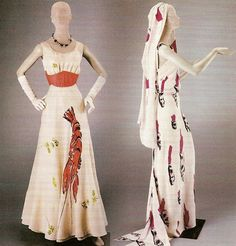 Dali with Elsa Chiaparelli - surrealist fashion dresses. 1937