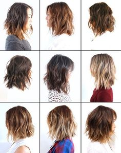 42 best ideas for hair cuts medium choppy textured bob Love Hair, Great Hair, Hair Inspo, Hair Inspiration, Medium Hair Styles, Short Hair Styles, Hair Color And Cut, Hair Today, Hair Dos