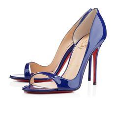 Christian Louboutin Tobaggan 'Neptune' Patent Sandal $745 #CL #Louboutins #Shoes