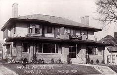 Danville, IL - Barrick & Sons Funeral Home - Postcard - Unused.