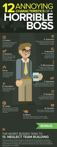 This can be applied to any leadership position, not just workplace situations - 12 Annoying Characteristics of a Horrible Boss It Management, Business Management, Leadership Tips, Leadership Development, Bad Leadership Quotes, Coaching Quotes, Educational Leadership, Professional Development, Projekt Manager