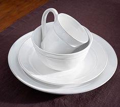 12 dinner plates in white -Cambria Dinnerware - Stone #potterybarn