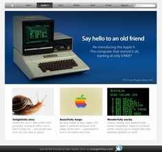 "Would you like to buy ""the New Apple II"" ? :)"
