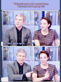 Martin Freeman & Amanda Abbington -- I love these 2. They're my real life OTP