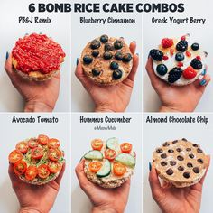 I'm all about those drooling worthy rice cake combos! 🤤 Honestly, I love ri… I'm all about those drooling worthy rice cake combos! 🤤 Honestly, I love rice cakes because they're super convenient, crunchy and a vehicle… Snack Recipes, Cooking Recipes, Healthy Recipes, Rice Cake Recipes, Brown Rice Cakes Recipe, Dinner Recipes, Healthy Meal Prep, Healthy Eating, Simple Healthy Snacks