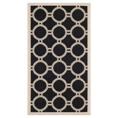 Safavieh Normand Outdoor Rug - Black / Beige