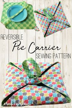 Reversible Pie Carrier Pattern from Crafty Staci DIY and CraftsFantastic 100 Sewing projects are offered on our web pages. Check it out and you wont be sorry you did.Easy 50 Sewing tips are readily available on our internet site. Easy Sewing Projects, Sewing Projects For Beginners, Sewing Hacks, Sewing Tutorials, Sewing Crafts, Sewing Tips, Diy Gifts Sewing, Sew Gifts, Scrap Fabric Projects