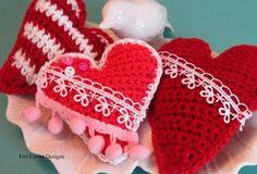 (4) Name: 'Crocheting : Hearts