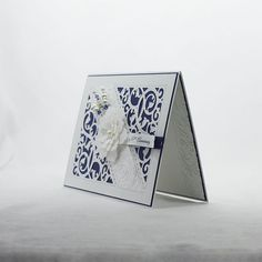 45th Anniversary Card Sapphire Anniversary by SilverWhiteCardShop