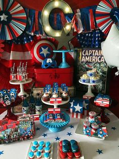 Captain America Birthday Party Ideas | Photo 1 of 19