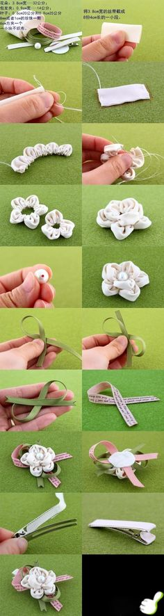 DIY Clip Hair for Girls : DIY Hair Clips