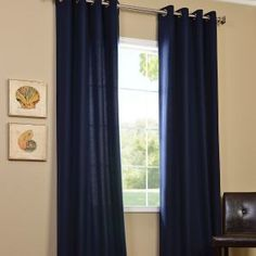 Room EssentialsR Thermal Window Navy Curtain Panels 1999 At