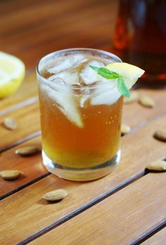 Almond Iced Tea ~ a refreshing and flavorful twist on sweet tea.    www.thekitchenismyplayground.com
