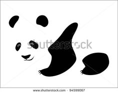 Panda (Bamboo Bear A Vector Image) - 94599067 : Shutterstock