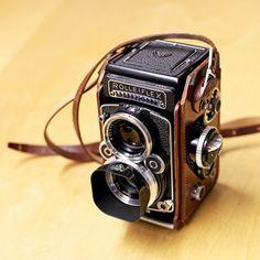 Rolleiflex 2.8F twin-lens reflex (TLR) camera that used 120 format roll film...