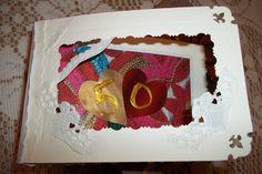 Tarjeta 50 aniversario de matrimoniorealizada en varisa texturas y tecnicas.- para mi amiga Graciela.