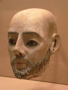 Egyptian Mummy Mask 2nd to 3rd century CE plaster