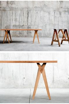 Yoy #table is the proposal designed by QoWood An Homage to the old work mate in the workshop: the #sawhorse.