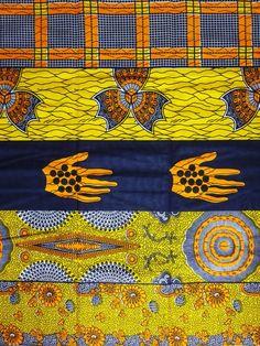 African Fabric 1//2 Yard Cotton Polyester Blend Wax Print BLUE ORANGE Butterflies